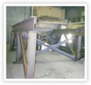 Structural steel support base for cooling tower